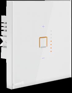 کلید دیمر هوشمند نستک به شما در کنترل سطح نور کمک می کند. این کلید دیمر اتوماتیک از طریق تلفن همراه و ریموت کنترل RF نیز قابل کنترل می باشد.